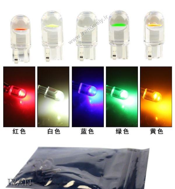 یک جفت لامپ شفاف  T10/W5W در ۴ رنگ جدید