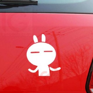Tuzki Funny Face Car Reflective Stickers