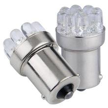 یک جفت لامپ کریستالی سفید یخی 9 SMD