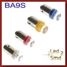 دو عدد لامپ سرپیچ کوچک ba9s رنگی