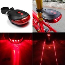 چراغ عقب دوچرخه 7 حالته و لیزر دو خطی