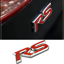 RED RS Metal Badges