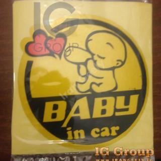 استیکر بچه تو ماشین