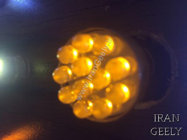 یک جفت لامپ کریستالی زرد 12 SMD