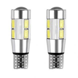 ۲عدد لامپ دارای ۱۰ اس ام دی لنزی Canbus T10 سفید