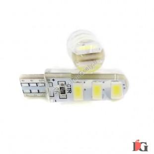 دو عدد لامپ جدید T10-6SMD-5630-silicone