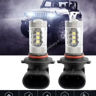 دو عدد لامپ 80W  CREE  /  HB4 - 9005/ 9006