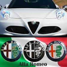 یک ست ۴عددی برچسب رینگ خودرو آلفا رومئو - Alfa Romeo