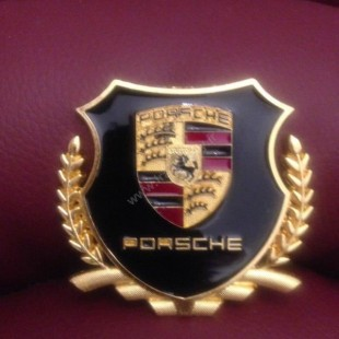 Porsche Deluxe metal Badge