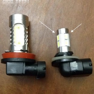 یک جفت لامپ کوچک COB H8 / H11