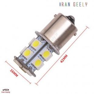 دو عدد لامپ راهنمای زرد دارای 13 اس ام دی 1156