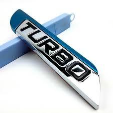 New 3D TURBO Emblem