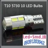 ۲عدد لامپ دارای ۱۰ اس ام دی لنزی Canbus T10