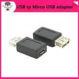 USB Type A Female to Micro USB B Female adapter