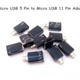 1pices black Micro USB 5 Pin to 11 Pin Adapter