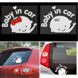 Baby in Car Sticker