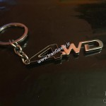 Black 4WD Metal Keyring