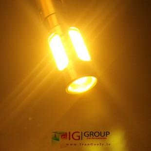یک جفت لامپ کریستالی زرد 9 SMD