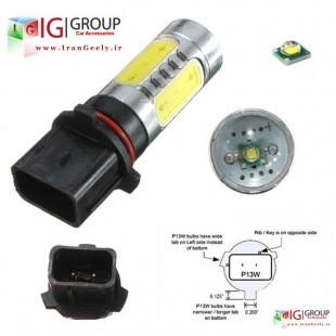 دو عدد لامپ P13W لنزی