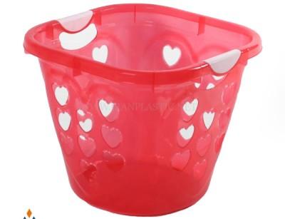 سبد رخت بزرگ قلب اشکان پلاستیک