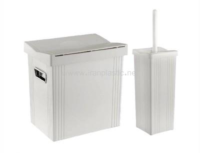 سطل و فرچه بادبزنی 5 لیتری لیمون پلاستیک