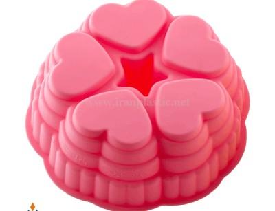 قالب کیک و ژله پنج قلب نیلوفر
