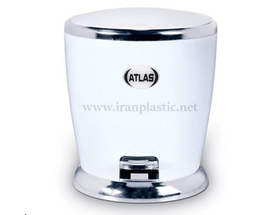 سطل پدالی کروم اطلس پلاستیک