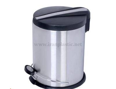 سطل پدالی استیل اطلس پلاستیک