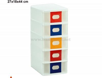 جعبه همه کاره پنج طبقه ناصر پلاستیک