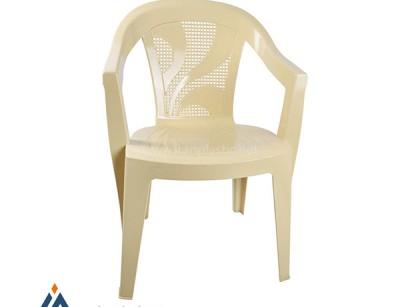 صندلی دسته دار پایه پلاستیکی هوم کت