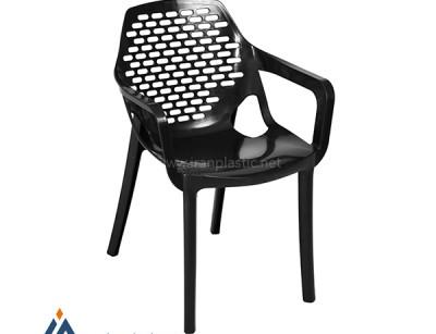 صندلی آتیلا نقش بیضی دسته دار هوم کت