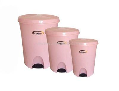 سطل زباله سه سایز سلمان پلاستیک