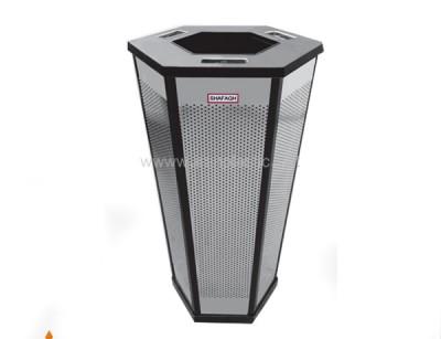 سطل زباله استیل شش ضلعی