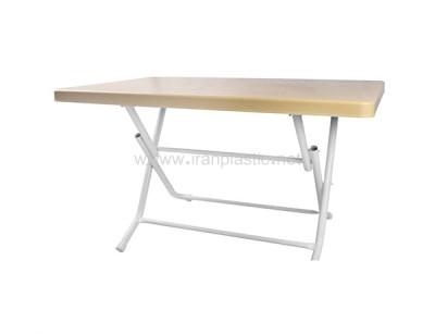 میز پلاستیکی 6 نفره پایه فلزی هوم کت