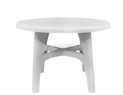 میز پلاستیکی گرد 6 نفره صبا پلاستیک
