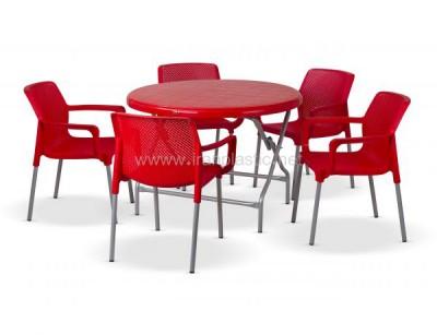 ست میز و صندلی نهار خوری گرد