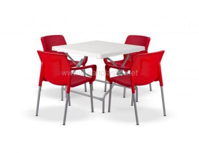 ست میز و صندلی نهار خوری مربع