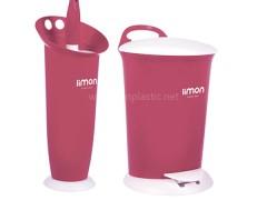 سطل و فرچه ساده پلاستیک لیمون