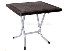 میز پایه فلزی تاشو پلاستیکی ناصر 423