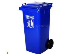 مخزن زباله چرخ دار 120 لیتر سبلان