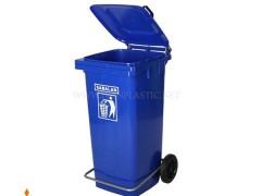 مخزن زباله پدال دار 240 لیتر سبلان پلاستیک
