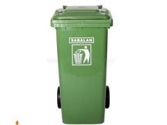 مخزن زباله چرخ دار 240 لیتر سبلان