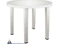 میز نهار خوری گرد ناصر پلاستیک 822