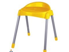 چهارپایه پشتی دار پایه فلزی متوسط ناصر