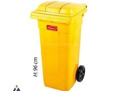 مخزن زباله چرخدار پلاستیک ناصر 5120
