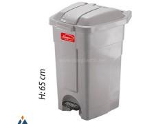 مخزن زباله پدالی ناصر پلاستیک 4800