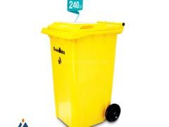 مخزن زباله صنعتی 240 لیتری چرخ دار گودبین