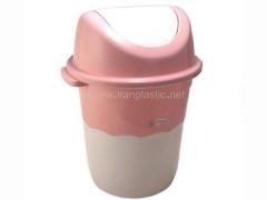 سطل زباله بادبزنی دو رنگ سلمان