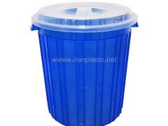 سطل زباله شفاف ماهینی پلاستیک