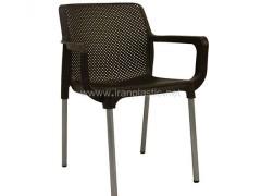 صندلی پایه فلزی دسته دار صبا پلاستیک نت کد 182